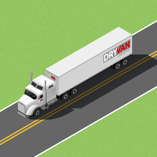 An illustration of our DRYVAN trailer on the highway symbolizing Open Communication.